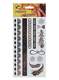 Eternity adhesive tattoo metallic