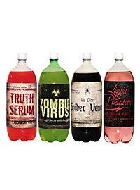 Étiquettes de bouteille de soda d'Halloween