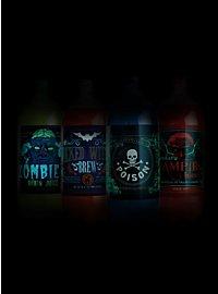 Étiquettes de bouteille de soda d'Halloween phosphorescentes