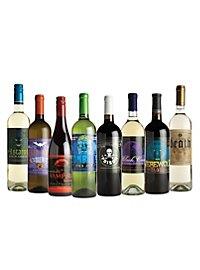Étiquettes de bouteille de vin d'Halloween phosphorescentes