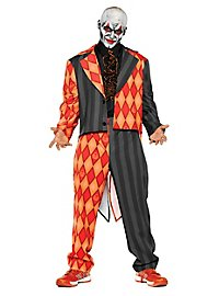 Evil circus clown costume