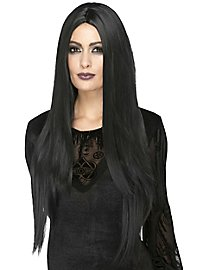 Extra long synthetic hair wig black