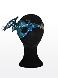 Eye Patch Water Dragon Leather Half Mask