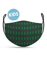 fabric mask for children magic school green