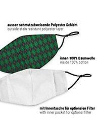 fabric mask for children magic school green