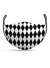 Fabric mask Harlequin black and white