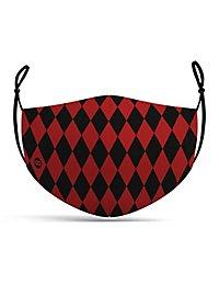 Fabric mask Harlequin black-red