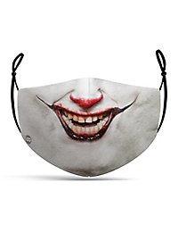 Fabric mask horror clown