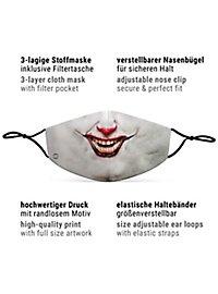 Fabric mask horror clown
