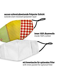 Fabric mask patch stocking