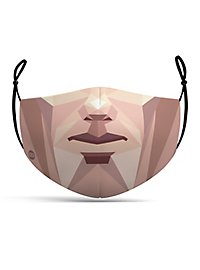Fabric mask polygon face
