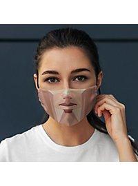Fabric mask polygon face