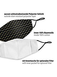 Fabric mask with Jacquard pattern