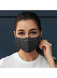 Fabric mask with skull pattern