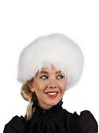 Fake fur hat white