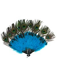 Fan peacock feathers