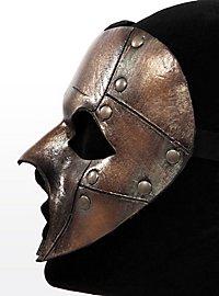 Fantôme de bronze steampunk Masque en cuir