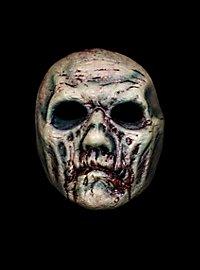 Fauliger Zombie Halbmaske aus Latex