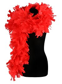 Feather boa deluxe red