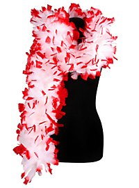 Feather boa deluxe white