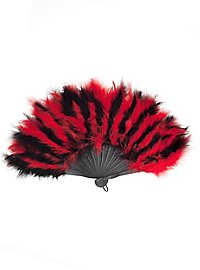 Feather Fan black-red