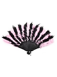 Feather Fan rose & black