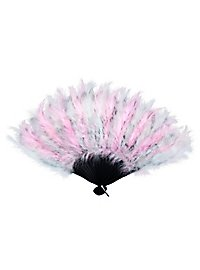 Feather Fan rose & white