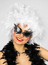feather wig white