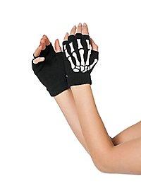 Fingerless bone gloves