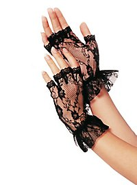 Fingerless Lace Mesh Gloves