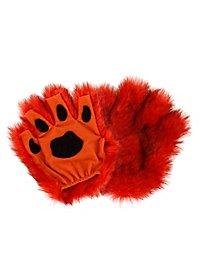Fingerless Paws orange