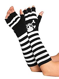 Fingerlose Piratenhandschuhe
