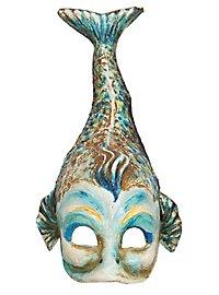 Fisch blau Venezianische Maske
