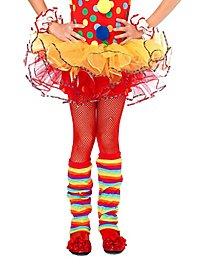 Fishnet Mädchen-Strumpfhosen rot für Kinder
