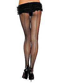 Fishnet pantyhose with seam black