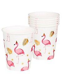 Flamingo Pappbecher 6 Stück