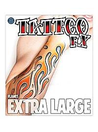 Flammen Klebe-Tattoo XL