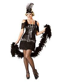 Flapper Girl noire Déguisement