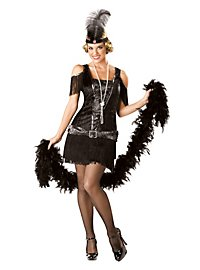 Flapper Girl schwarz Kostüm