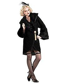 Flapper Mantel schwarz