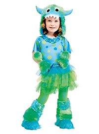 Flauschiges Grummel-Monster grün Kinderkostüm