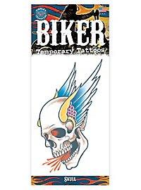 Fliegender Schädel Klebe-Tattoo