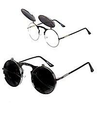 Flip-up Sonnenbrille silber