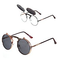 Flip-up sunglasses bronze