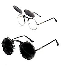 Flip-up sunglasses silver