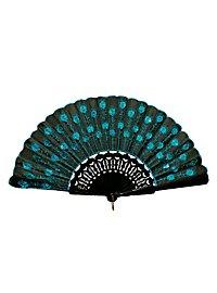 Flora Hand Fan blue