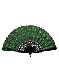 Flora Hand Fan green