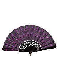 Flora Hand Fan purple