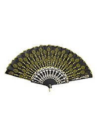 Flora Hand Fan yellow