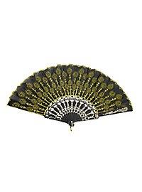 Flora Hand Fan yellow